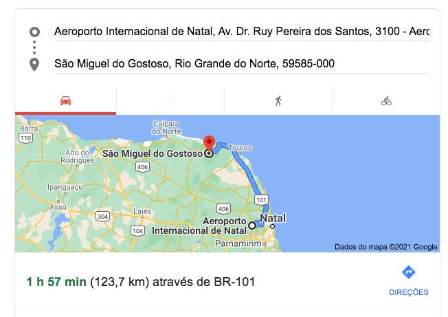Distancia_aeroporto_natal_a_são_miguel_do_gostoso