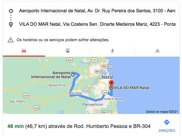 aeroporto-de-natal-ao-Esuites-Vila-do-mar