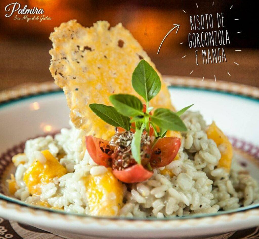 Risoto de gorgonzola e manga Palmira Restaurante